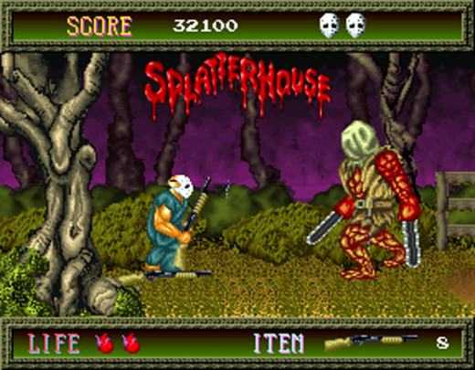 An end of level boss awaits in Splatterhouse...