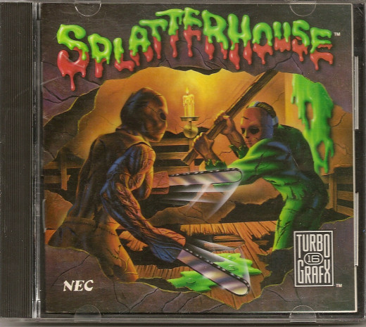 This is how the boxed version of Splatterhouse looked for the Turbo 16 Grafx console