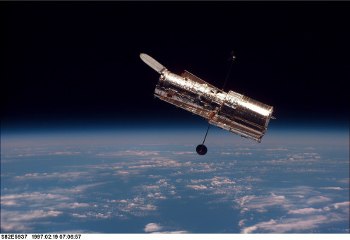 "Hubble Space Telescope, featured in the film ""Gravity"" (2013)."