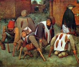 Another painting of victims of ergotism suffering from gangrene, by Pierre Bruegel .