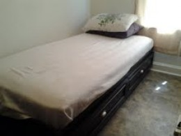 The finished Ameriwood bed