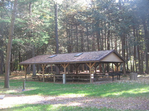 This is the style of picnic pavilion that we stayed at just outside Port Clinton.