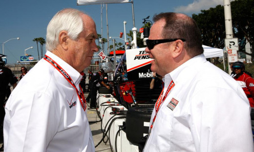 Team owners in both NASCAR and IndyCar, Penske (left) and Ganassi are fierce rivals