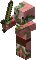 Despite their appearance, zombie pigmen are harmless unless attacked first.