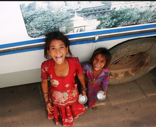 Rich Smile of poor girls