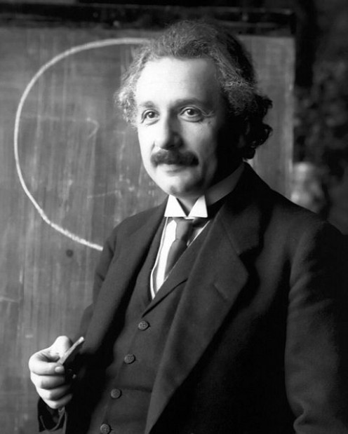 Albert Einstein - 1921 Portrait - Public Domain