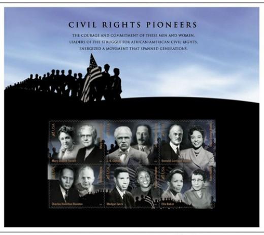 Civil Rights Leaders Stamp Pane