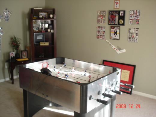 table Hockey in the Den
