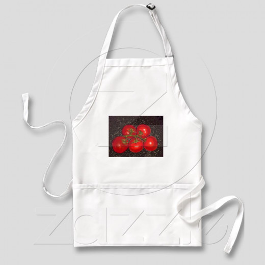 Apron - Five Tomatoes Ripened on the Vine by GloriousConfusion See more of my designs in my Zazzle Store
