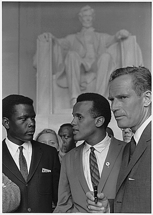 Charlton Heston at the Rev. Dr. Martin Luther King's March on Washington