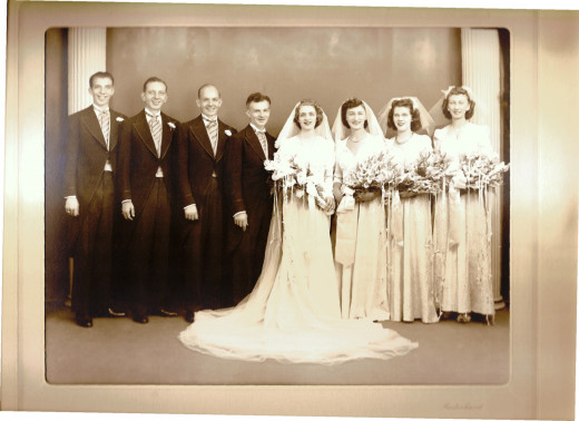 My Mom and Dad's wedding.