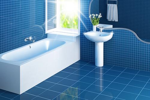 A Sparkling Clean Bathroom