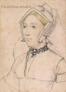 A drawing of Catherine Willoughby by Hans Holbein the Younger