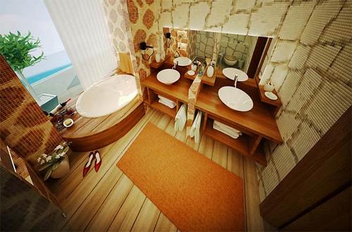 A Well-Organized Bathroom