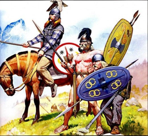 Celtic Iberian warriors