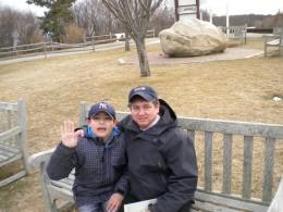 Ed (Pre-Emily) with son Matty!
