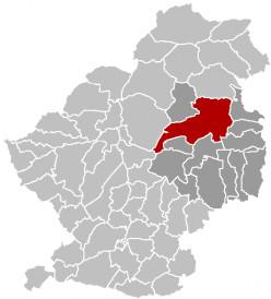 Map location of Marchiennes, Douai arrondissement, Nord department