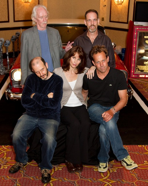 "John Carpenter and cast with ""Christine"""