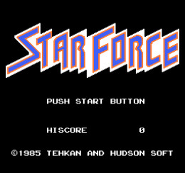 The menu screen to Tehkan's (now Tecmo) Star Force