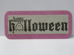 Happy Halloween stamp on background