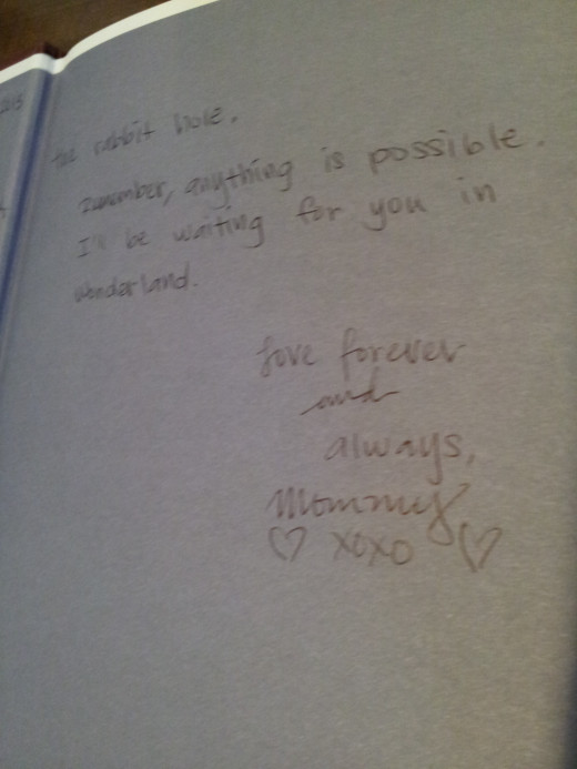 Second Page Of Book Inscription For My Daughter