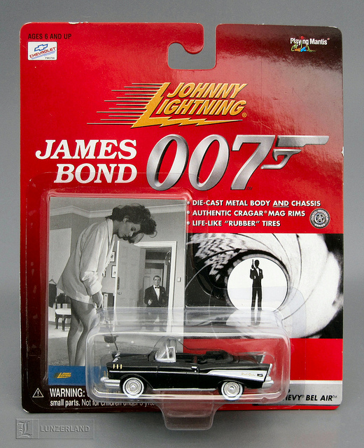 Die Cast model of James Bond's Chevy Bel Air from DR. No