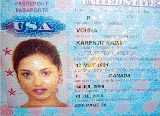 Sunny Leone Real name as shown in her Passport