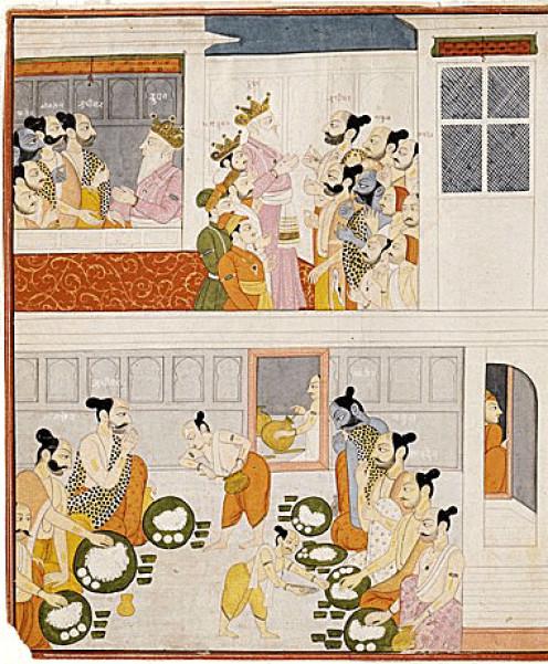 Los Pandavas en Corte Drupada