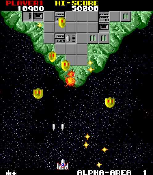 The Final Star approaches an 'island in space' in Star Force by Tekhan