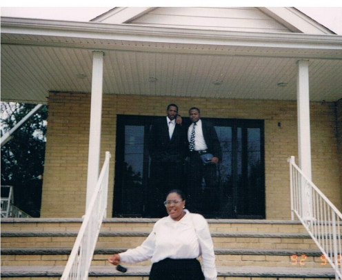Thomas Jacobs (top left) Leonard Thomas (top right) & Michelle Hayward (center) @ Holy Temple Church of God in Christ, 84 1st Ave. Toms River NJ (1992).
