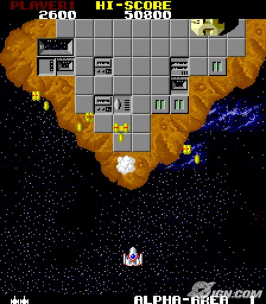 The Final Star prepares to unleash destruction in Star Force arcade game