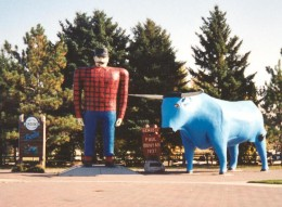 Paul Bunyan statue in Bemidgi, MN photo from wiki media commons by Ase500