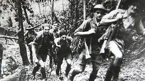 Leather boots turned to mush.  Heat, humidity, mosquitoes, disentery and thick jungle all added to the strain of the actual fighting.