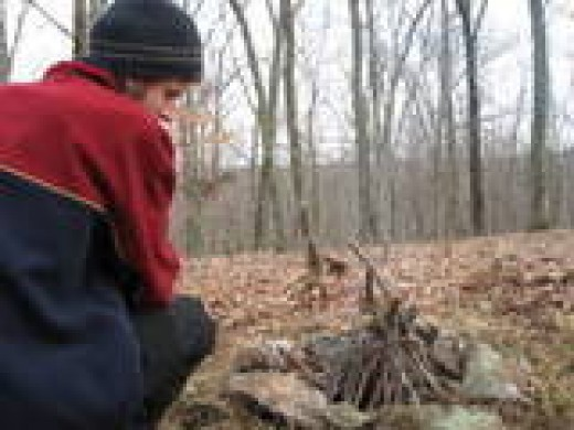 Several times in my younger days I felt so isolated and ineffective that I dropped all personal responsibility and lived homeless in the woods. This is a photo of me during one of those times.