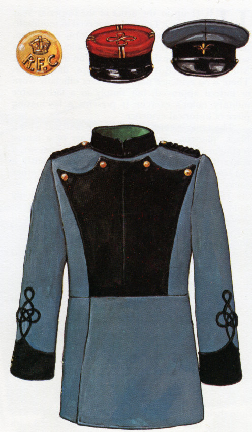 Proposal for full dress uniform for the Royal Flying Corps Military Wing 1913 housed in the Imperial War Museum, London.