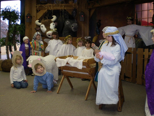Children love taking part in nativity plays and they also enjoy giving their own thoughts on the holy family.