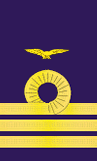 Wing Commander Rank Insignia in the Royal Naval Air Service.