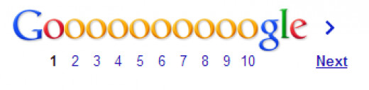 Screengrab of Google Pagination Links