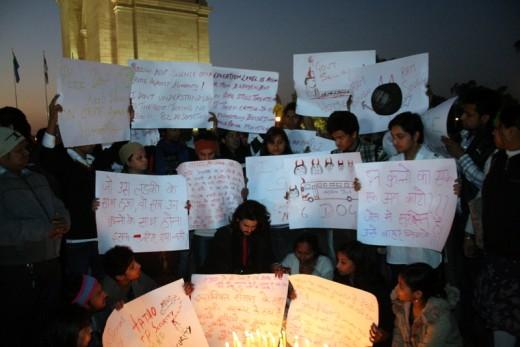 Delhi Gang Rape Protest at the India Gate