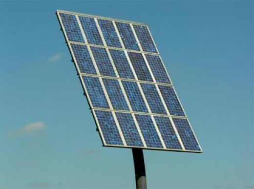 Solar panels convert sunlight into electricity.