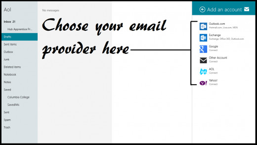 Select your email provider