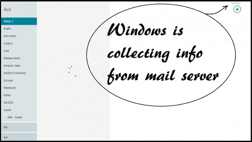 Windows syncs your email