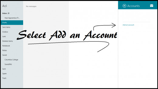 Select add an account