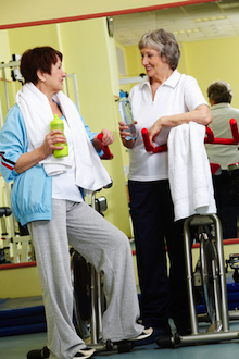 Exercise and friendship - an important part of a healthy lifestyle.