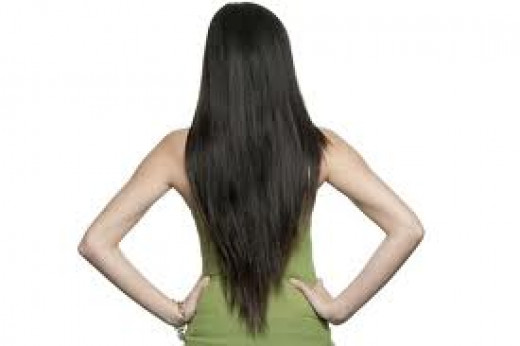 Long thick and healthy hair