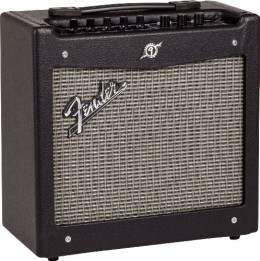 The Fender Mustang I guitar amp is among the best small amps out there for practice and home use.
