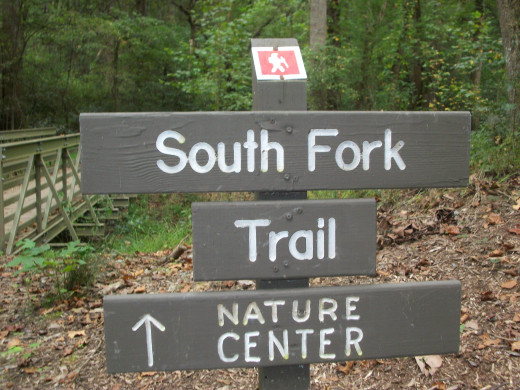 Reedy Creek Nature Preserve. You are now entering the South Fork Trail.