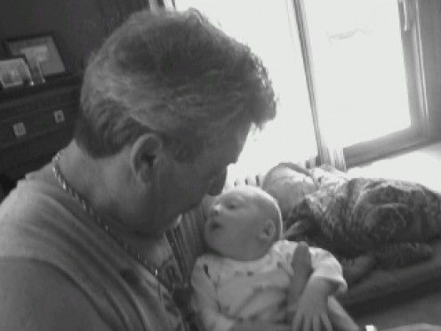 Me and my new Grandson.