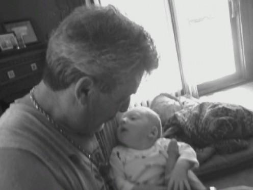 Enjoying my sobriety and my new Grandson.