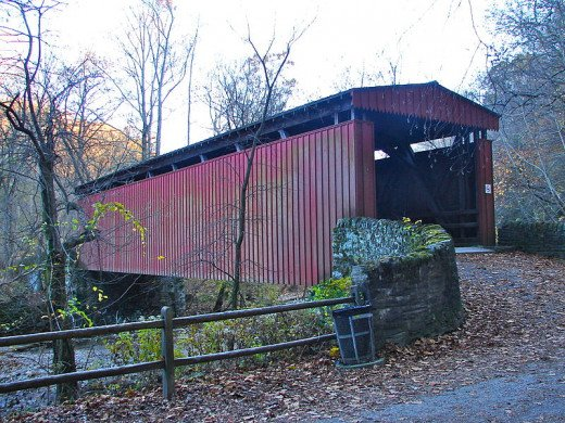 Thomas Mill Covered Bridge, the only Covered Bridge in a Major American City, One of the Special Attractions on the Forbidden Drive